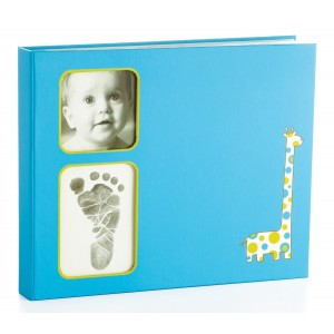BABY BOOK – blue giraffe