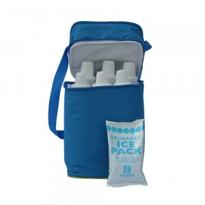 6 BOTTLE COOLER - Blue/ Green