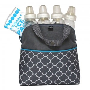 MaxiCOOL 4-BOTTLE COOLER/ WARMER - Clover Grey/ Teal
