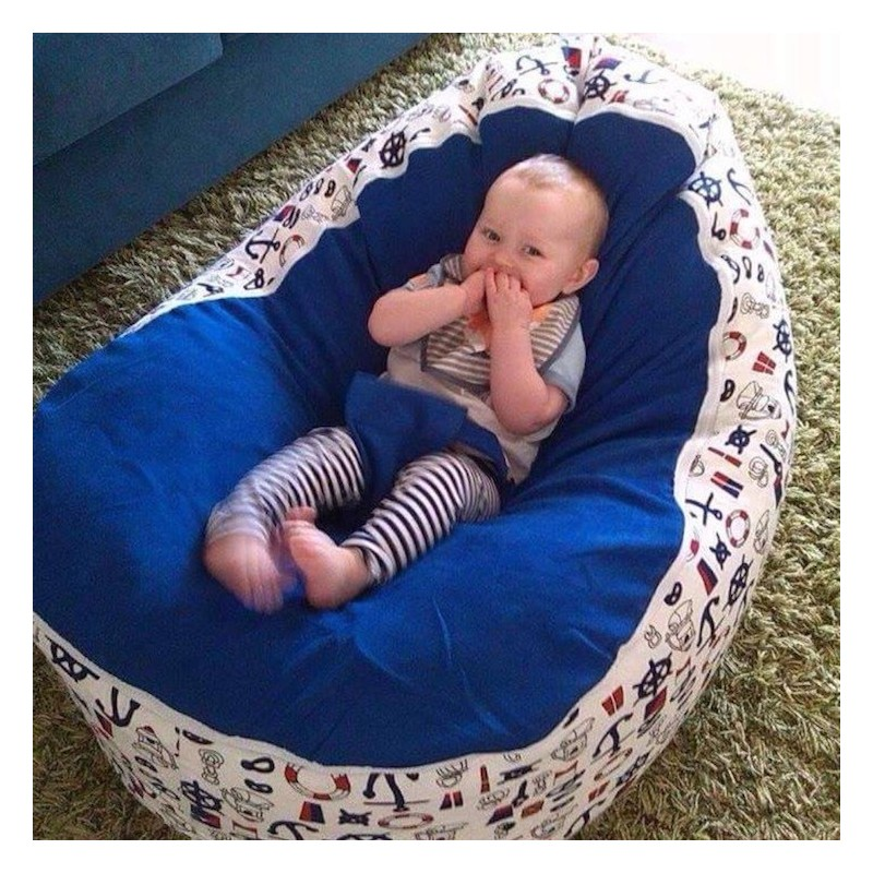 Stupendous Nautical Blue Bean Bag Chair With Harness Camellatalisay Diy Chair Ideas Camellatalisaycom