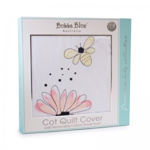 BEE BEAUTIFUL Cot Quilt Cover with removable Duvet Inner