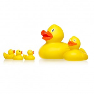 STAR & ROSE YELLOW DUCK SQUIRTERS - set of 4