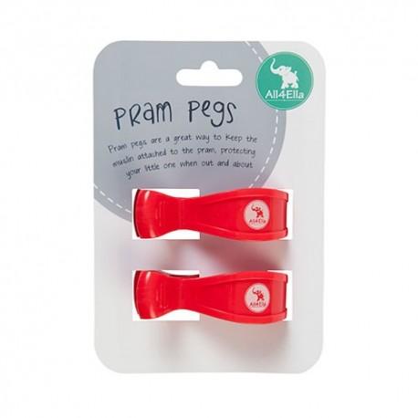 PRAM PEGS - 2pk Red