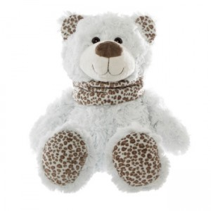 MILLY Teddy Bear with leopard print scarf - medium 39cm
