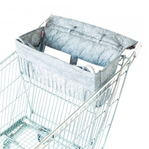 SHOPPING TROLLEY LINER (Fits DOUBLE or SINGLE TROLLEYS) - Grey Dreamcatcher