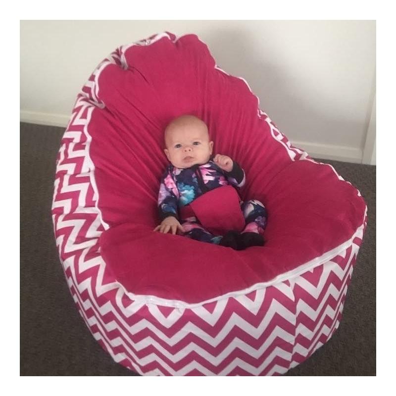 Wondrous Chevron Hot Pink Bean Bag Chair With Harness Creativecarmelina Interior Chair Design Creativecarmelinacom