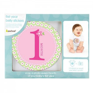 PEARHEAD FIRST YEAR BELLY STICKERS - Pink