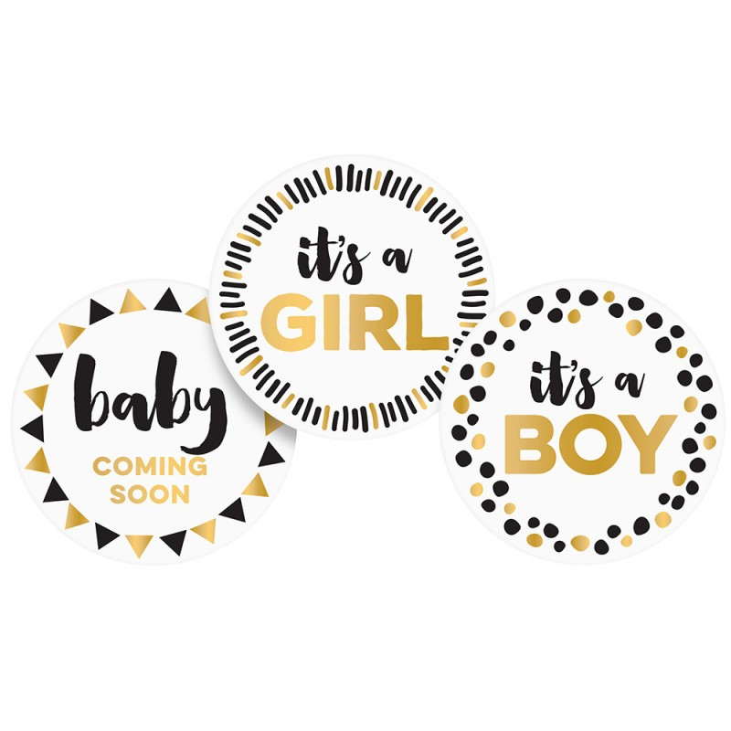 PEARHEAD PREGNANCY BELLY STICKERS - Black, white & gold - Pods & Sods