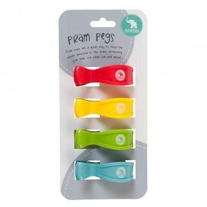 PRAM PEGS - 4pk Multi Blue