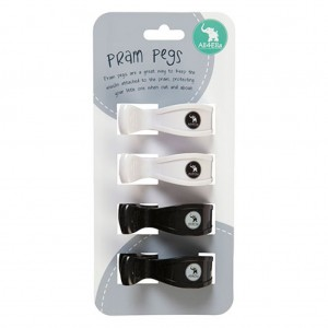 PRAM PEGS - 4pk Black/ White