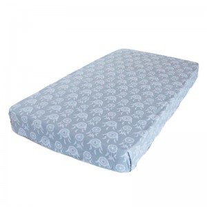 FITTED COT SHEET – Grey Dreamcatchers