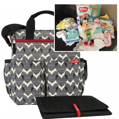 """FILLED """"PICK UP & GO"""" SIGNATURE HEART BABY BAG"""