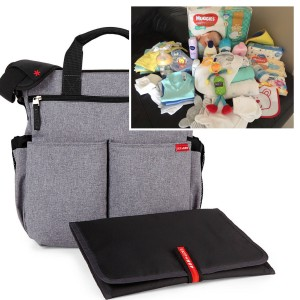 """PICK UP & GO"" COMPLETE - GREY HEATHER SIGNATURE BABY BAG"