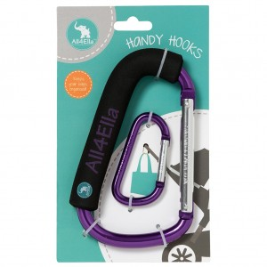 HANDY PRAM HOOKS – Purple