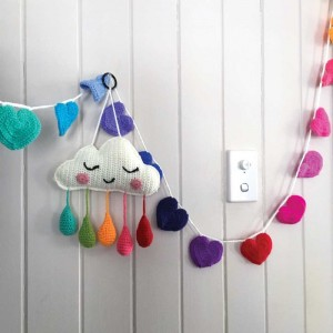 OB DESIGNS HEART BUNTING - rainbow
