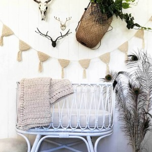 OB DESIGNS CROCHET BUNTING - natural