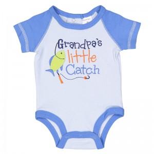 """Grandpa's Little Catch""  BODYSUIT - size 3 months"
