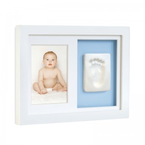 TINY IDEAS BABY'S PRINT WALL FRAME - pink & blue matting included