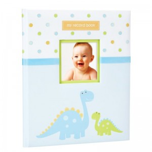 TINY IDEAS DINOSAUR BABY RECORD BOOK UP TO 5th BIRTHDAY