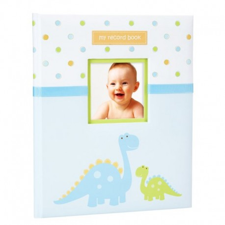 TINY IDEAS DINOSAUR BABY RECORD BOOK UP TO 5th BIRTHDAY