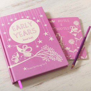 EARLY YEARS  baby to five years record journal & notebook (pink)