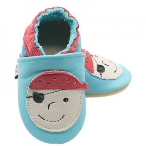 SOFT SOLED LEATHER BABY SHOES - Pirate  6-12 months
