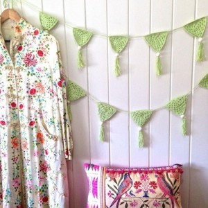 OB DESIGNS CROCHET BUNTING - green