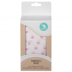 BAMBOO WRAP – Pink Heart