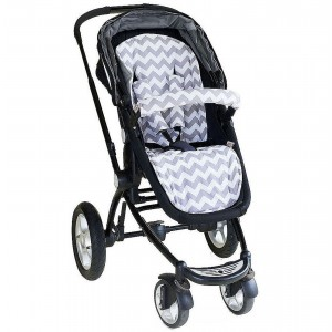 PRAM LINER – Grey Chevron