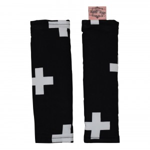 PRAM / CAPSULE HARNESS COVERS – Black Crosses