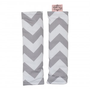 PRAM / CAPSULE HARNESS COVERS – Grey Chevron