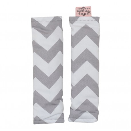 PRAM HARNESS COVERS – Grey Chevron