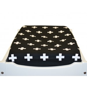 CHANGE TABLE MAT COVER – Black Crosses