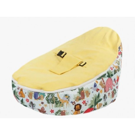 Jungle Animals Yellow Bean Bag Chair With Harness
