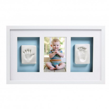 BABY PRINTS DELUXE WALL FRAME - white