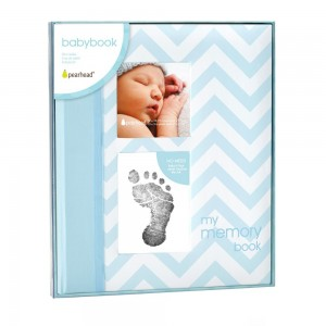 BABY BOOK – blue chevron