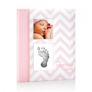 BABY BOOK – pink chevron
