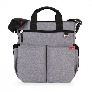 DUO SIGNATURE NAPPY BAG – heather grey