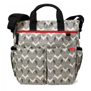 DUO SIGNATURE NAPPY BAG – hearts