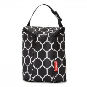 GRAB & GO DOUBLE BOTTLE BAG - Onyx Tile