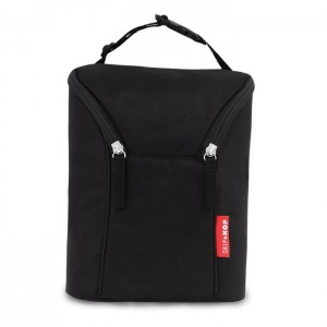 GRAB & GO DOUBLE BOTTLE BAG - Black