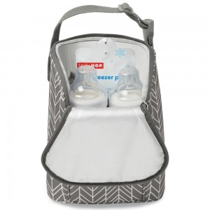GRAB & GO DOUBLE BOTTLE BAG - Grey Feather