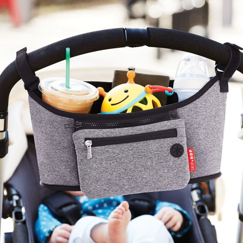 Grab Amp Go Stroller Organiser Heather Grey Baby Bean Bags