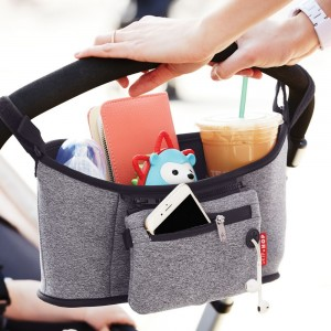 GRAB & GO STROLLER ORGANISER - Heather Grey