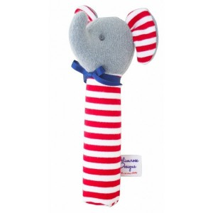 ALIMROSE ELEPHANT SQUEAKER  -  red stripe