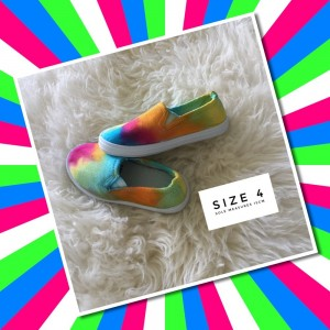 TIE DYED TODDLER SHOES - size 4  (15cm sole)
