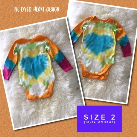TIE DYED LONG SLEEVE SUIT - Size 2