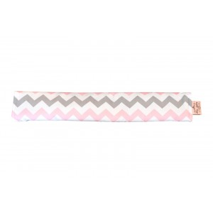 PRAM BAR COVER – Pink on Grey Chevron