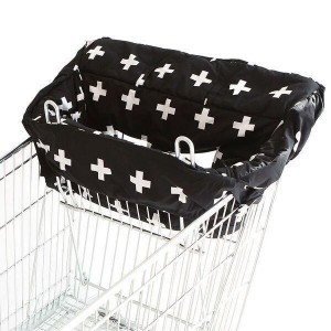 SHOPPING TROLLEY LINER – Black Crosses