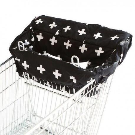 SHOPPING TROLLEY LINER – Black Crosses